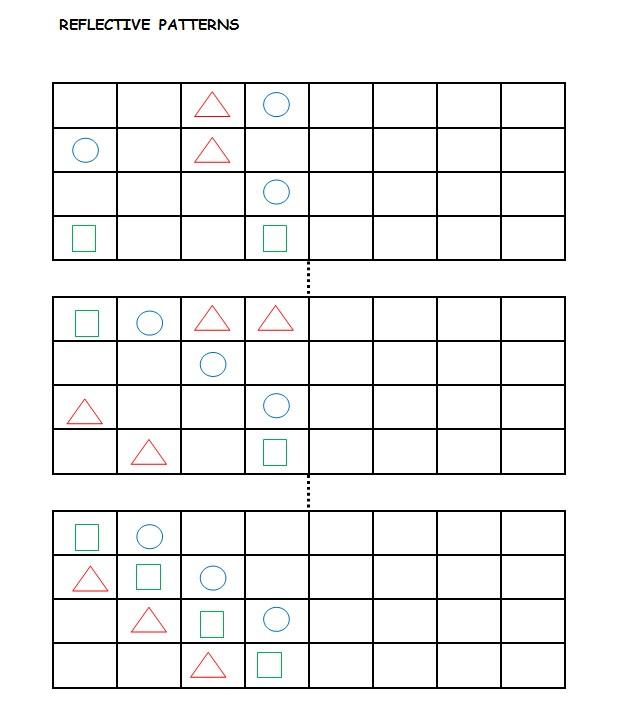Reflective Patterns Reflective Symmetry Worksheets