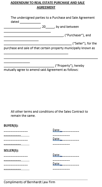 Sales Addendum Agreement Template