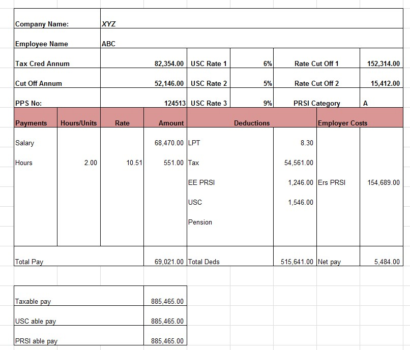 Sample Payroll Worksheet Template1