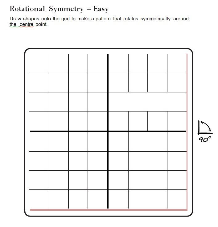 School Rotational Symmetry Worksheets Templat