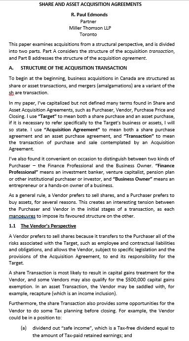 Share Asset Acquisition Agreement