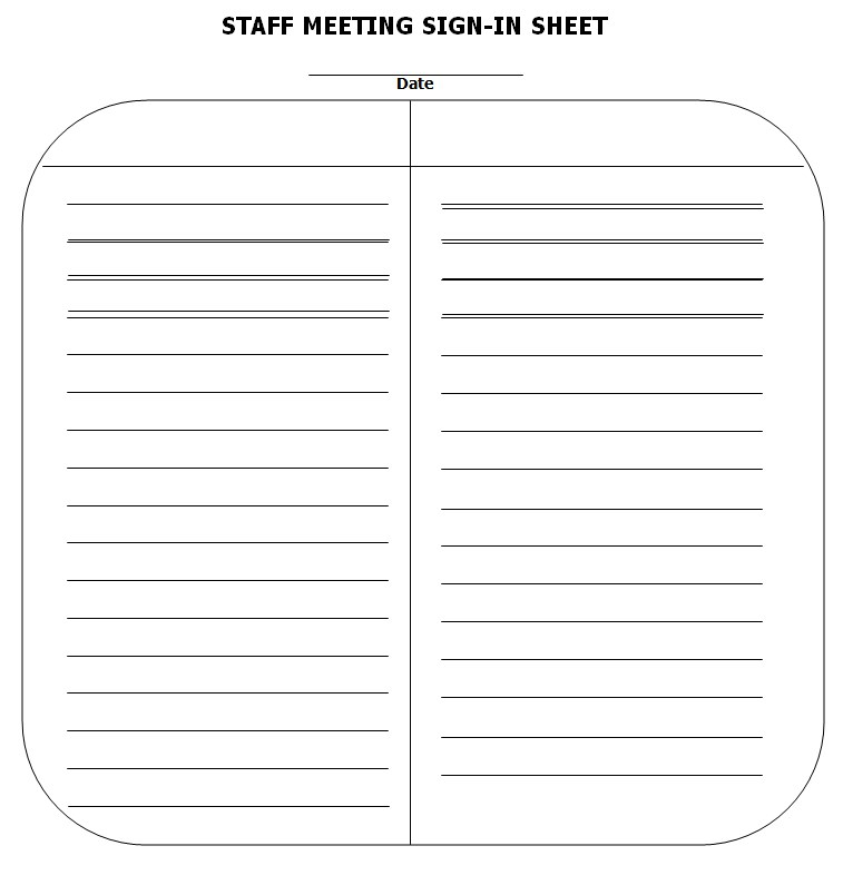 Staff Meeting Sign In Sheet Template