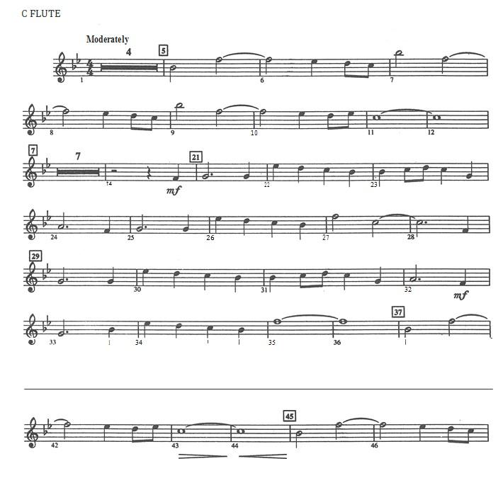 Star Wars Sheet Music PDF Template