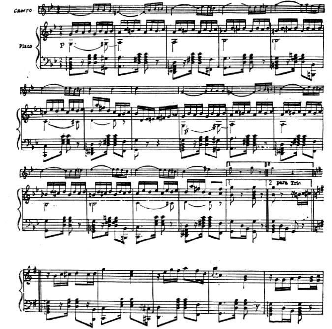 Tango Sheet Music PDF Template