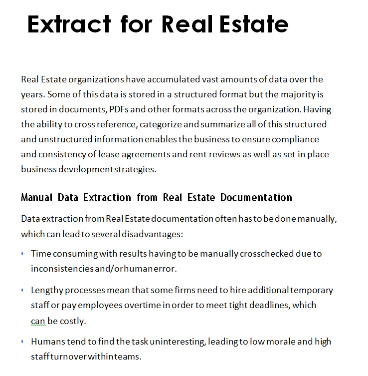 iManage Real Estate Datasheet
