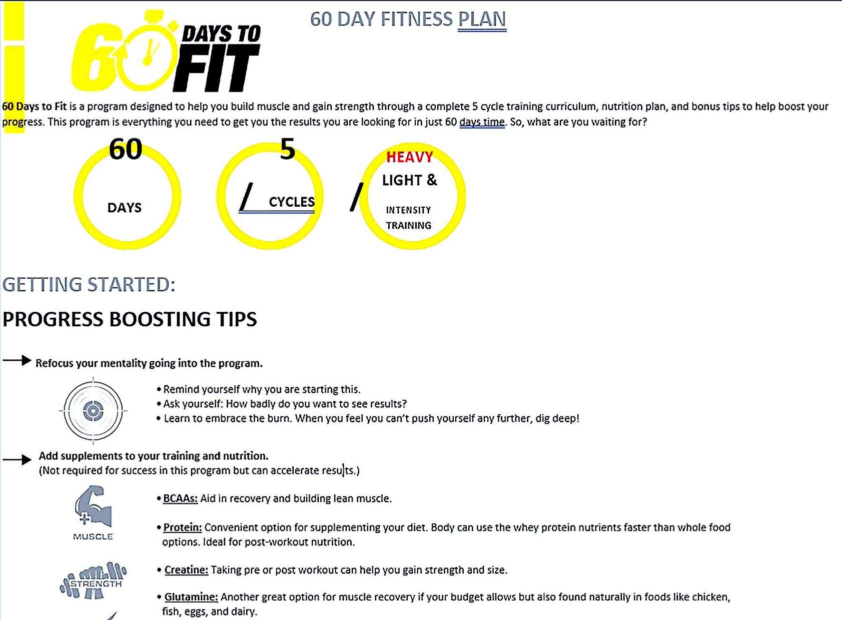 60 days to fit program
