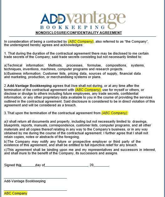 AVB Nondisclosure Agreement