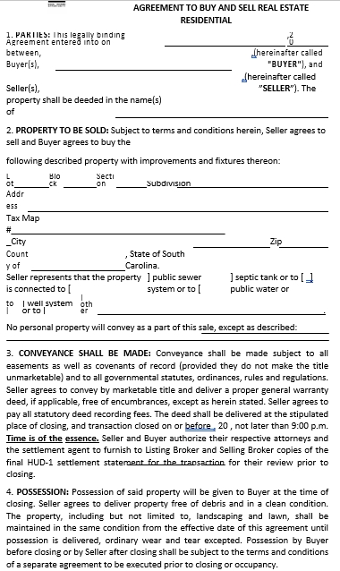 Agreement To Buy Sell Real Estate PDF Format