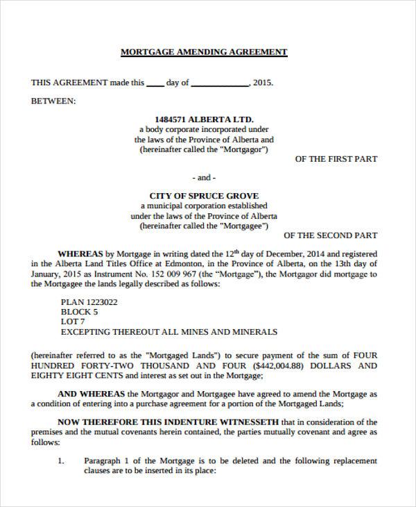 Amending Agreement