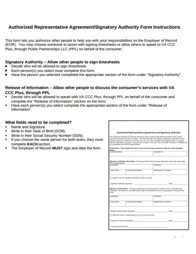 Authorised Agreement in PDF