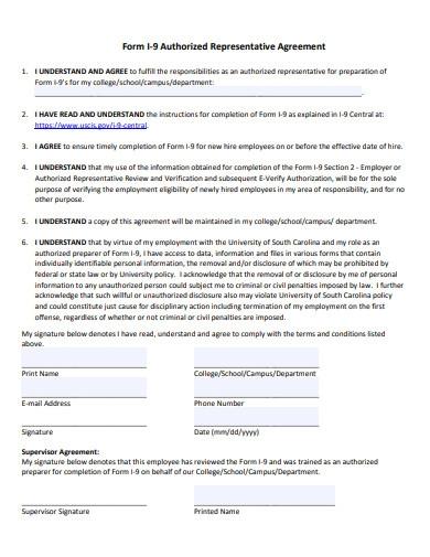 Authorised Representative Agreement Template