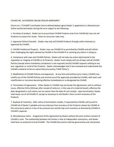 Authorized Online Dealer Agreement1