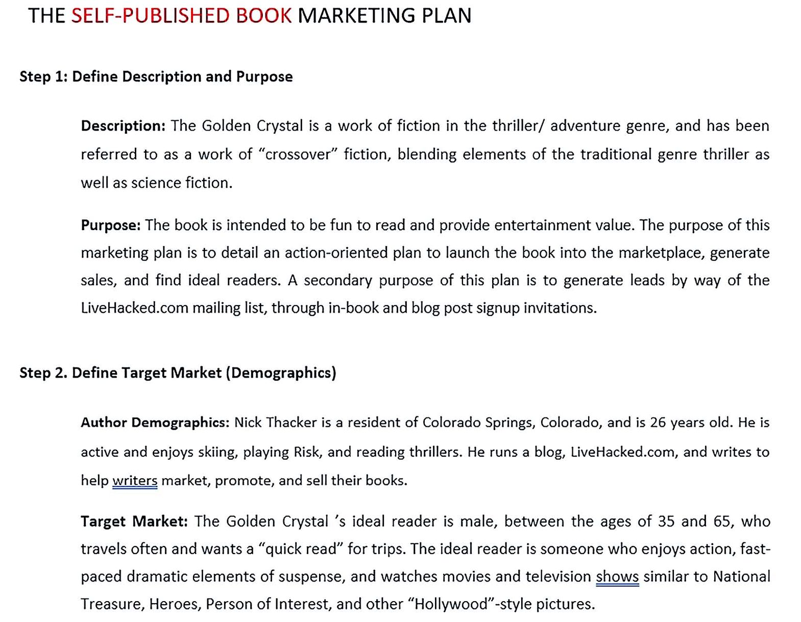 BMP Marketing Plan