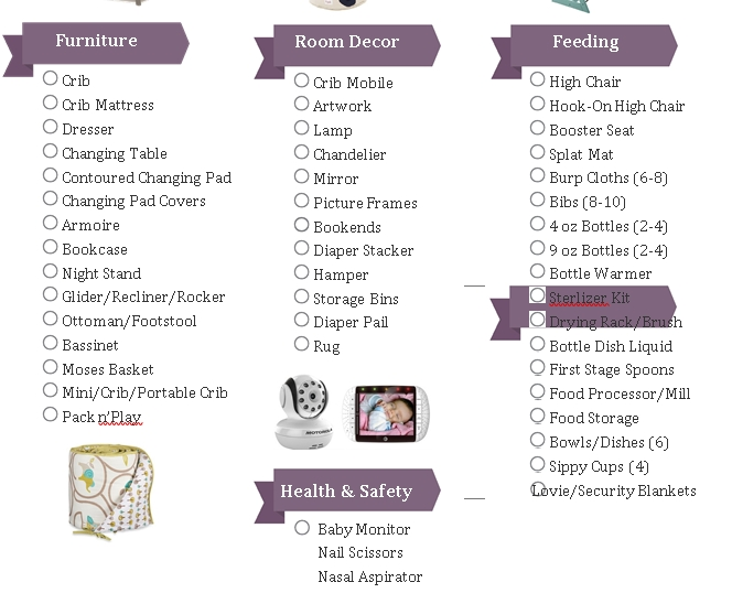 Baby Registry Checklist for First Time Moms