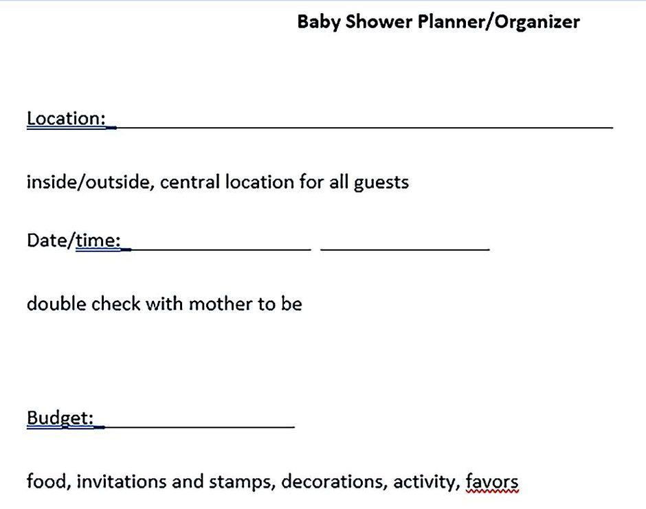 Baby Shower Event Planner Organizer