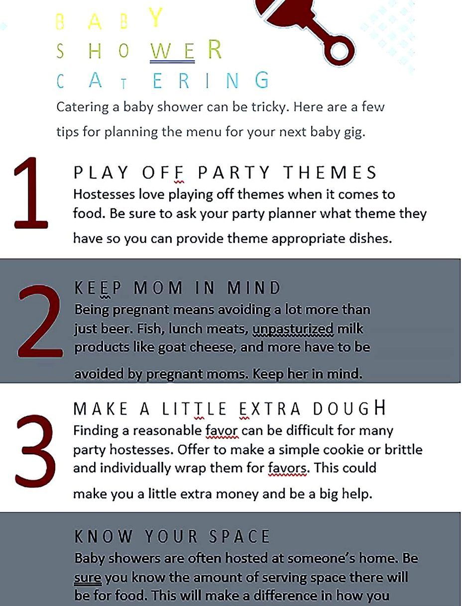 Baby Shower Party Catering Planner Template