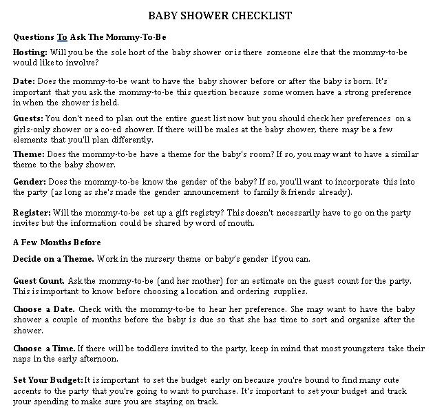 Baby Shower Registry Checklist for Twins