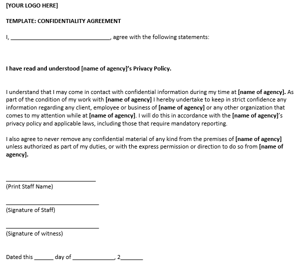 Basic Confidentiality Agreement