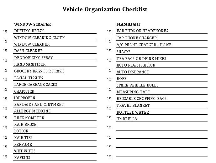 Blank Checklist 4