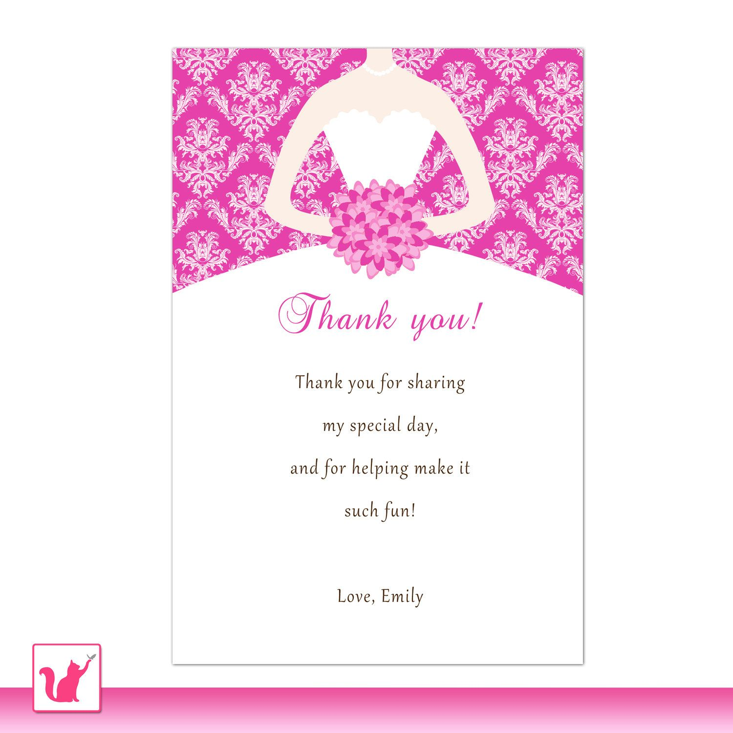 Bridal Shower Thank You Note Templates