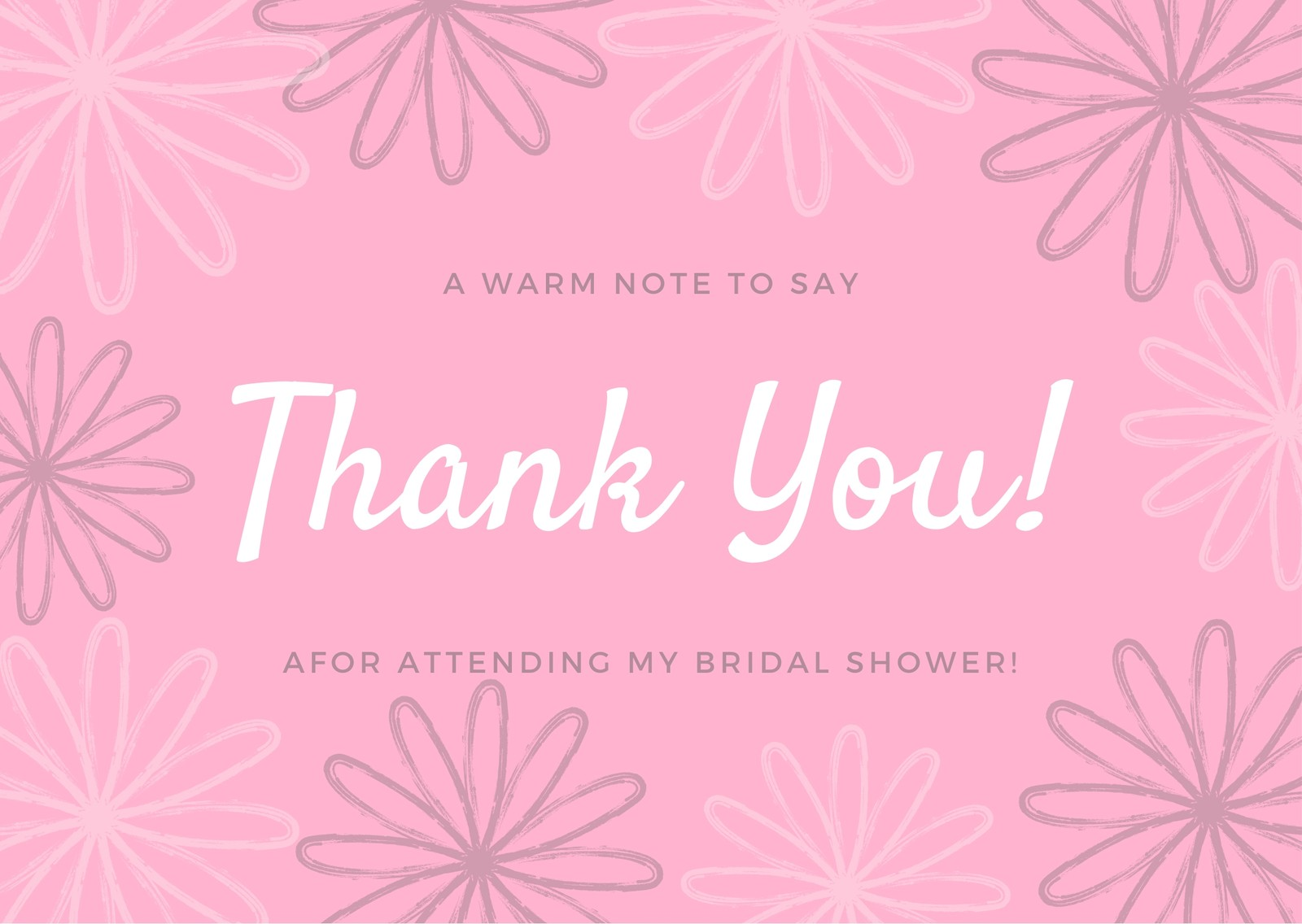 Bridal Shower Thank You Note Templates2