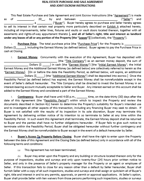 Buy Sell Contract Agreement Document