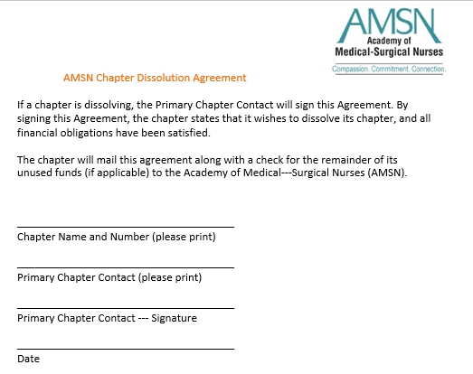 Chapter Dissolution Agreement Template
