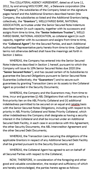 Collateral Agency Agreement