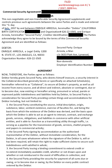 Commercial Security Agreement Template