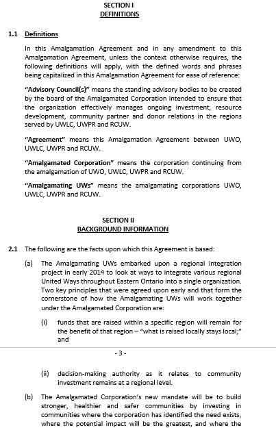 Company Amalgamation Agreement