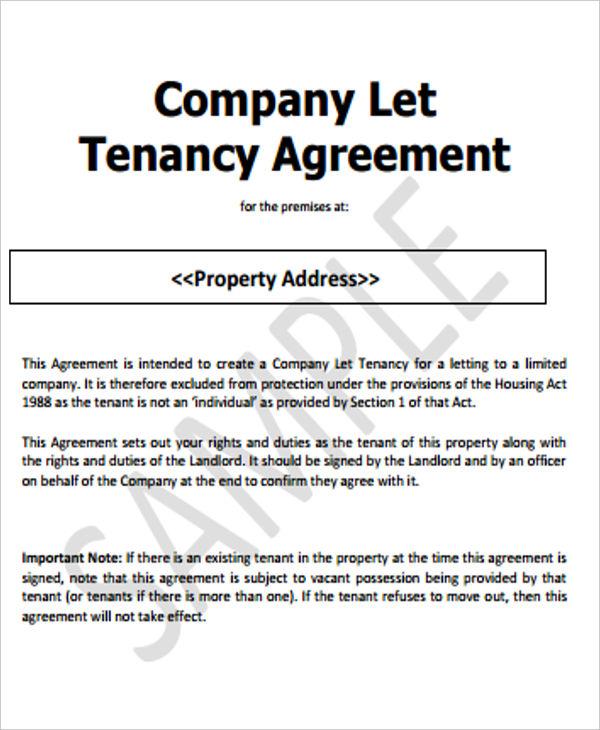 Company Tenancy