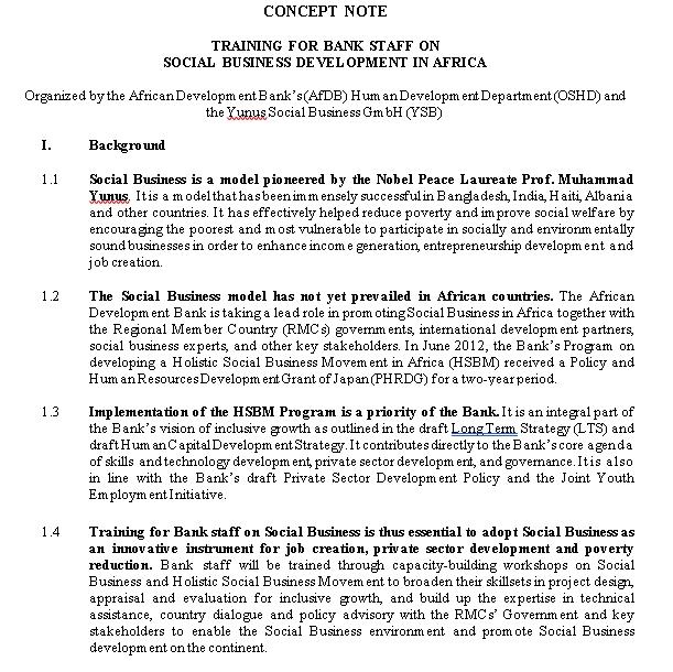 Concept Note In PDF