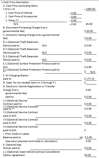 Conditional Sale Contract and Security Agreement Template