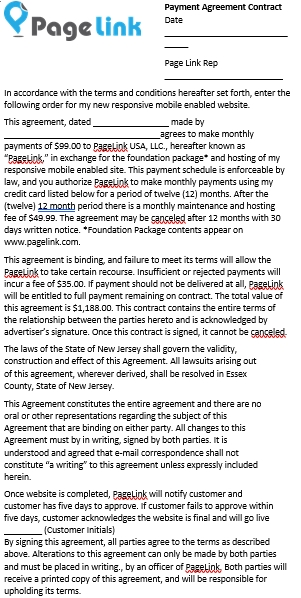 Contract Payment Agreement