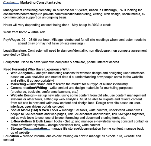 Contractor Confidentiality Agreement for Marketing Contractor