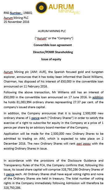 Convertible Agreement for Directors