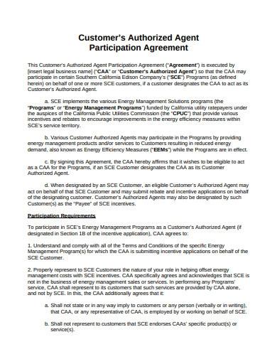 Customer Authorised Agreement Template