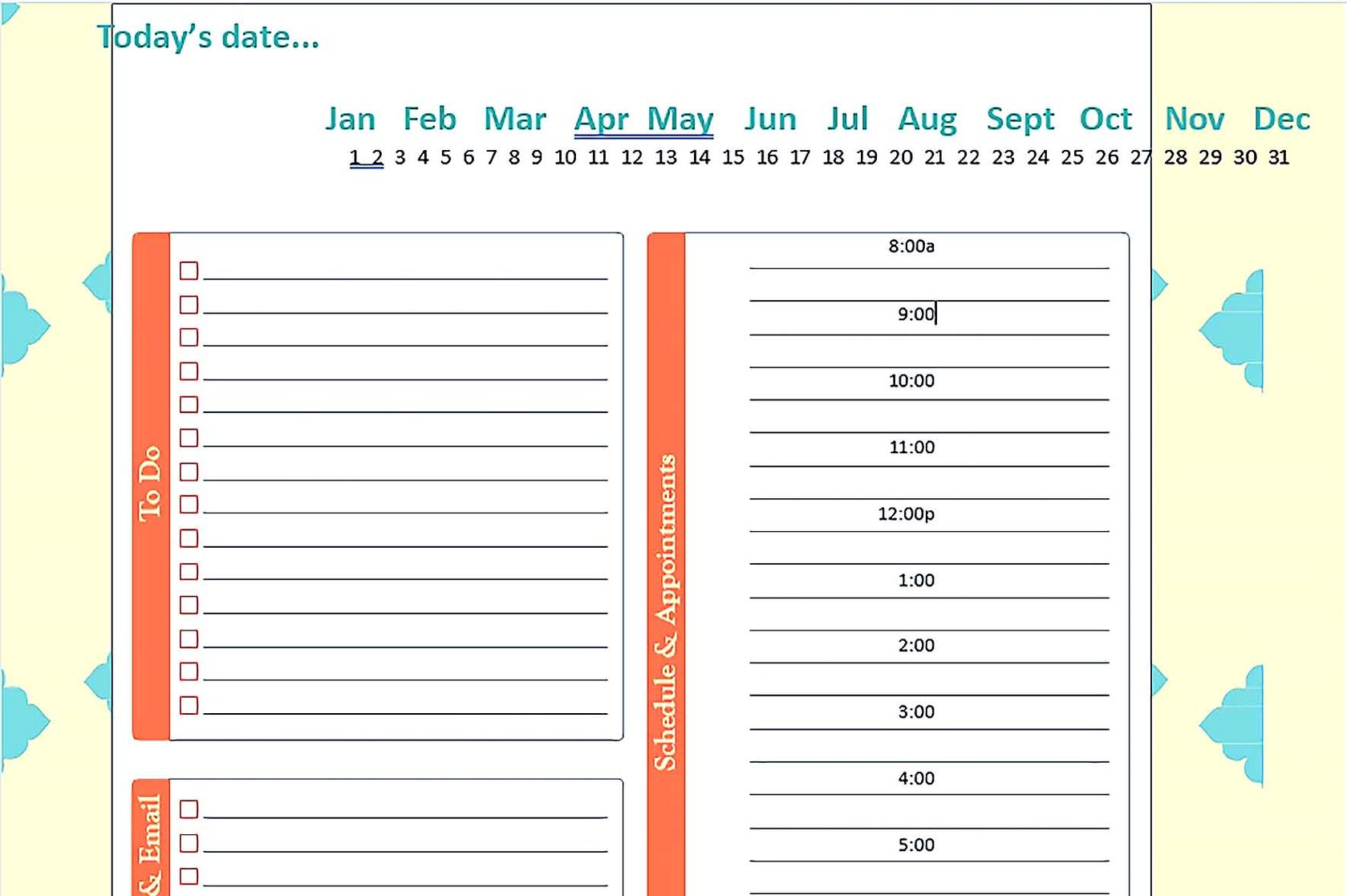 Daily Schedule Planner Templates