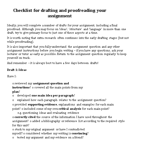 Drafting Checklist Example in PDF