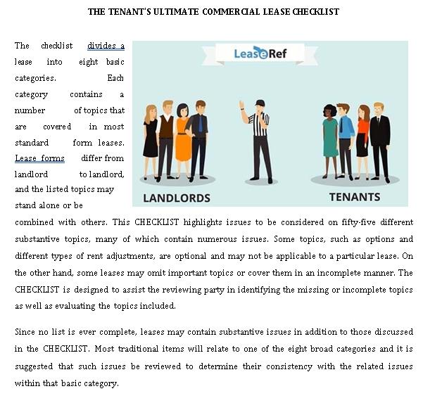 Elaborate Landlord Tenant Checklist Template