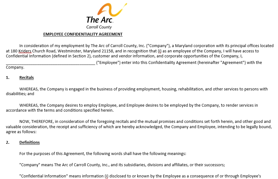 Employee Confidentiality Agreement Template