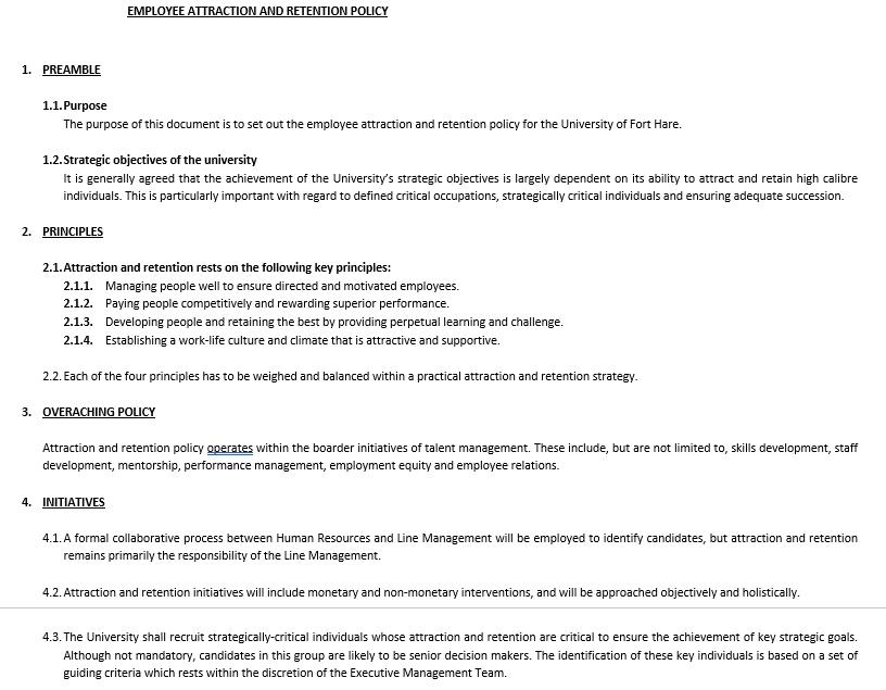 Employee Retention Agreement Template 4