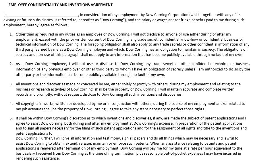 Employment Confidentiality