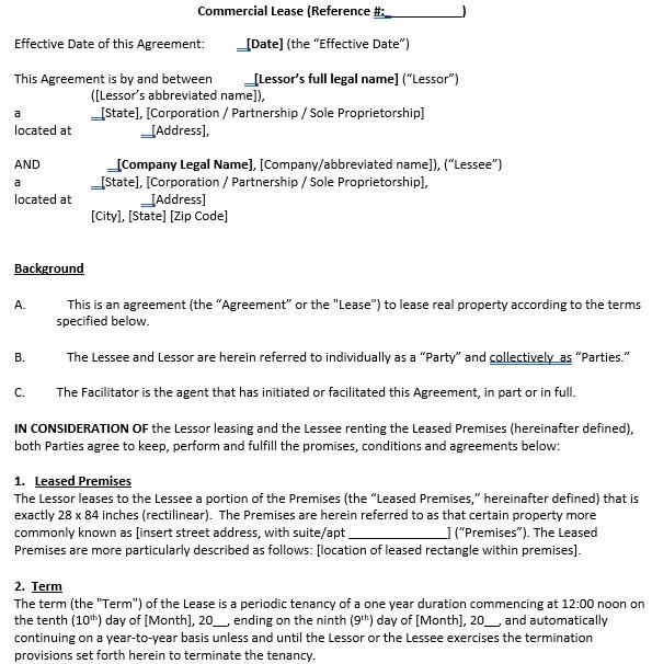 Enterprise Sub Lease Agreement
