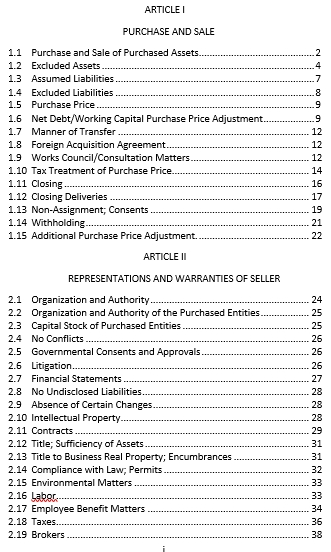 Equity and Asset Purchase Agreement Executed1