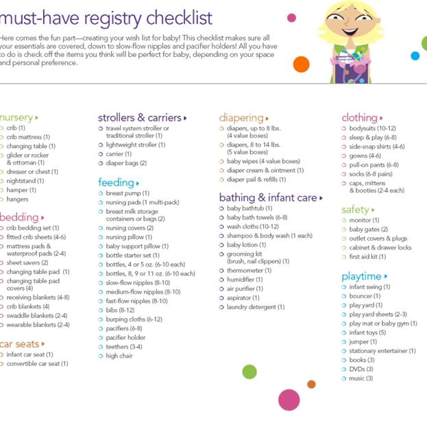 Essential Baby Registry Checklist4