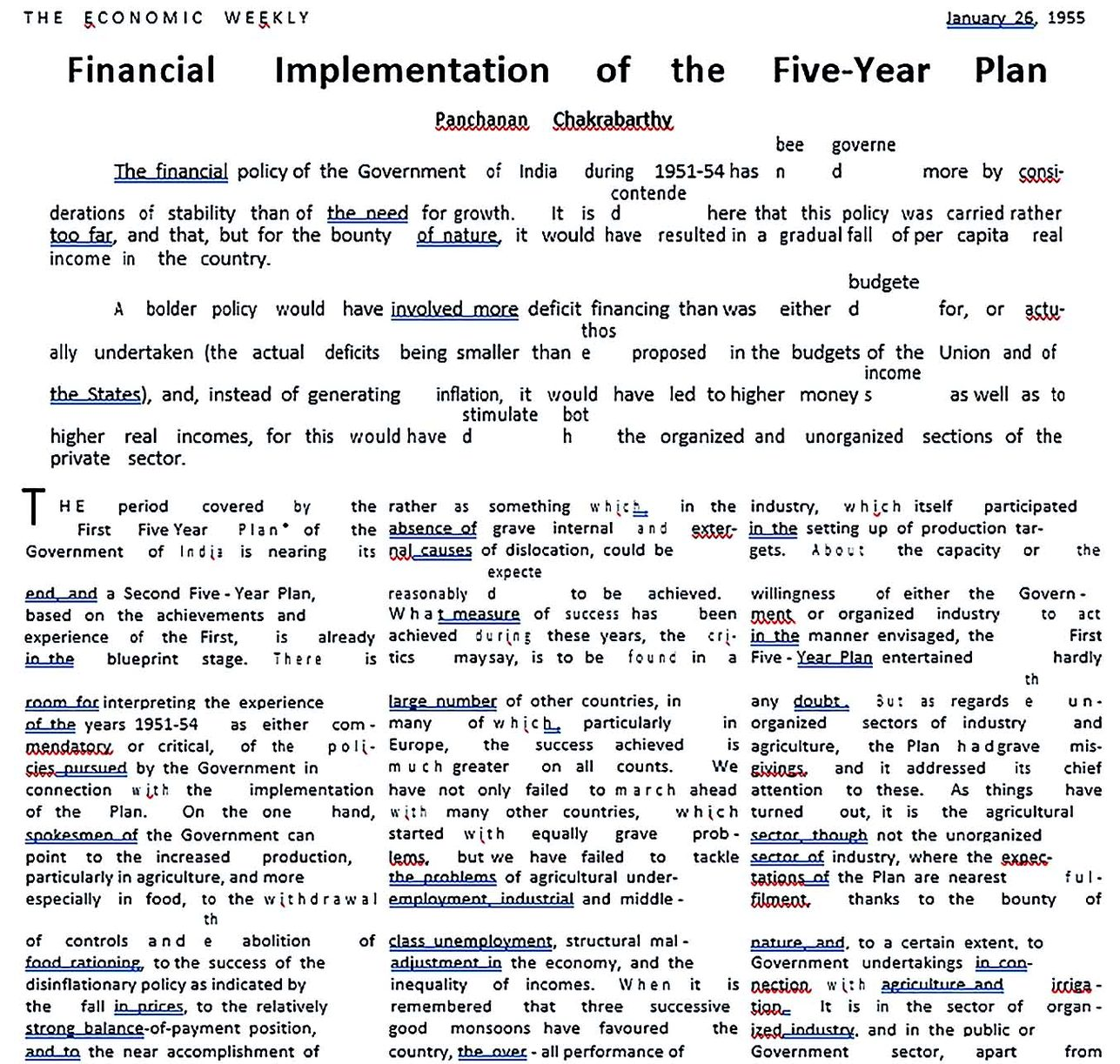 Financial ImplementationFive Year Plan
