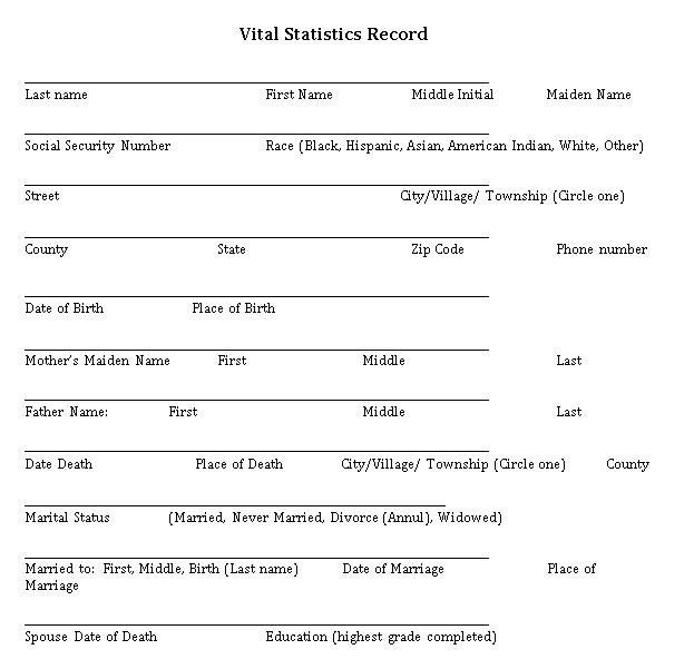 Funeral Service Checklist Template