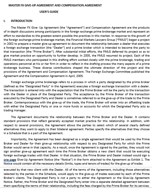 Guide Agreement