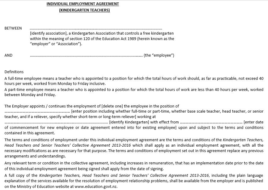 Individual Employment